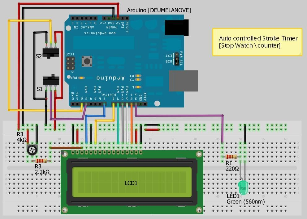 Arduino based auto timer use for projects