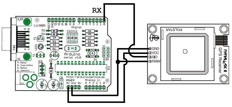 Arduino Traveling Geocache circuit