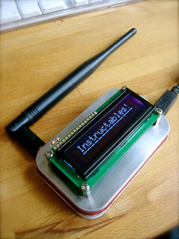 Wireless Altoids Display using an Arduino -Use Arduino for