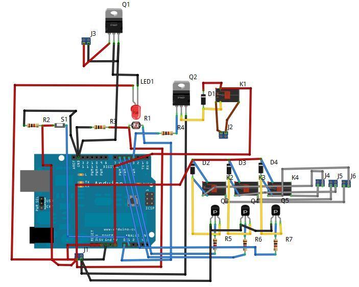 Arduino Wireless Irrigation System circuit
