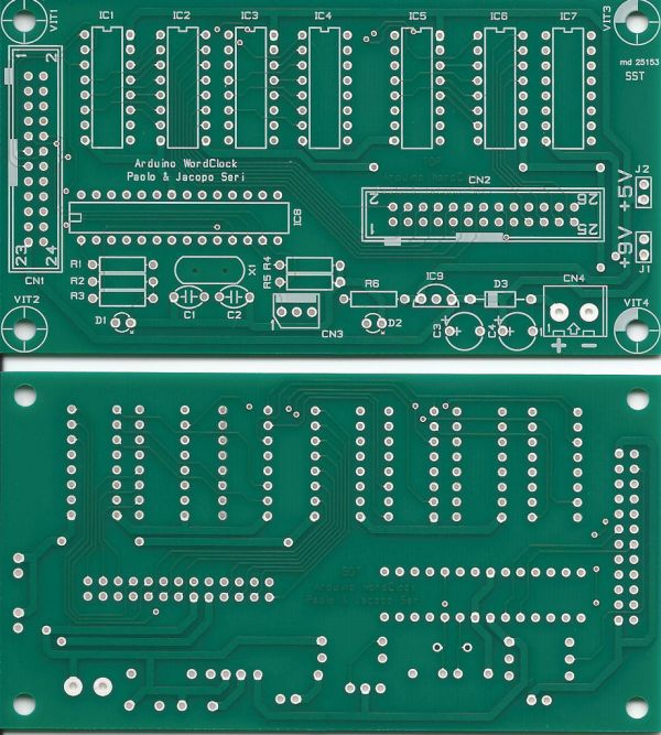 Arduino WordClock PCB