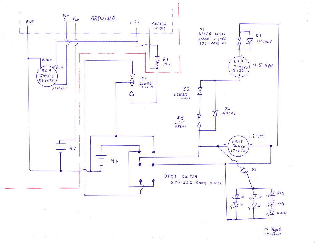 Arduino coffin Schematic