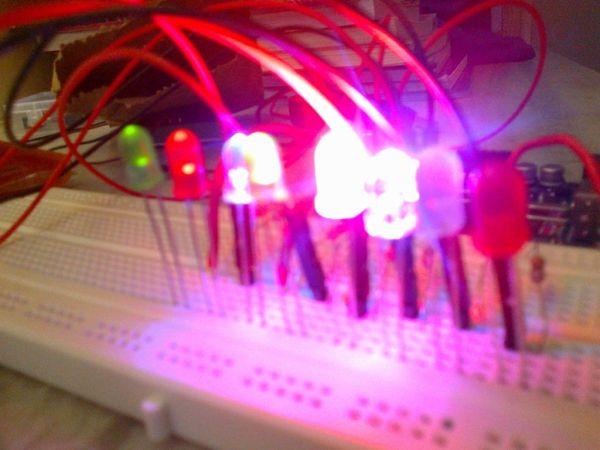 Arduino control 8 leds