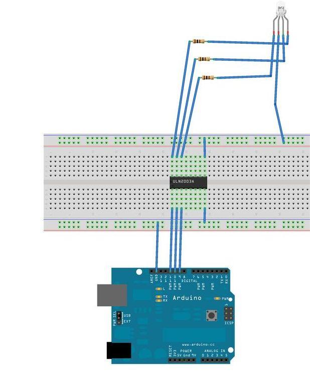 Arduino mood lighting circuit