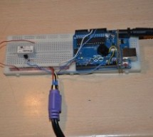 The morse code generator by a PS\2 keyboard using Arduino