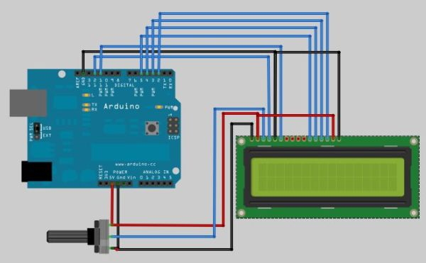Barcode Reading on Arduino LCD Circuit