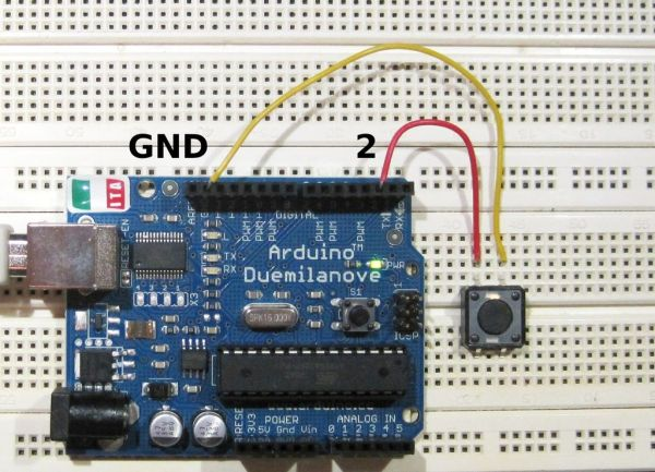 Connecting Arduino Button