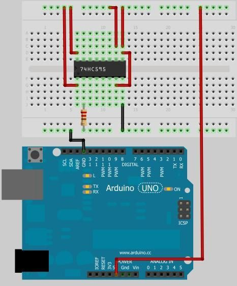 Counter ICs Using an Arduino connection