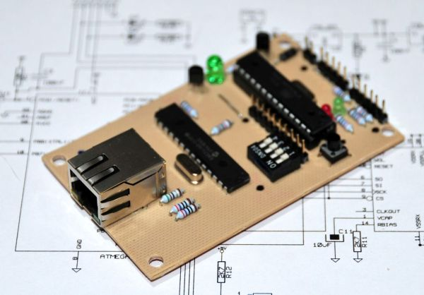 Ethernet Arduino compatable controller board