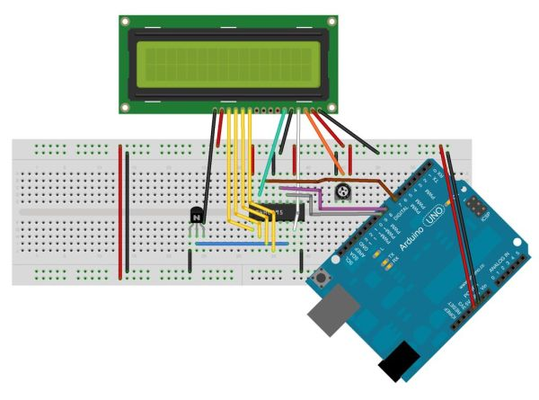Hookup an LCD to an Arduino circuit