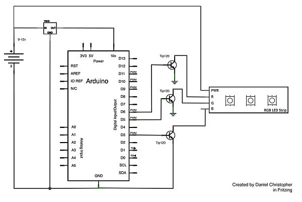 LED Strip Circuit Schematic
