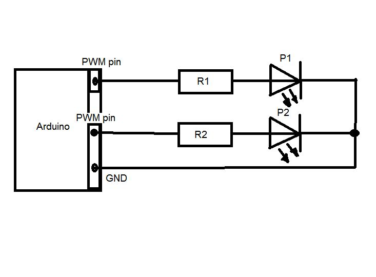 LEDs with Arduino circuit
