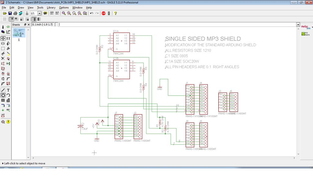 MP3 Shield for Arduino Schematic