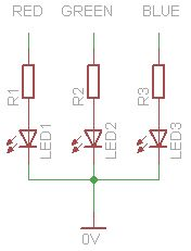 RGB's with Arduino circuit