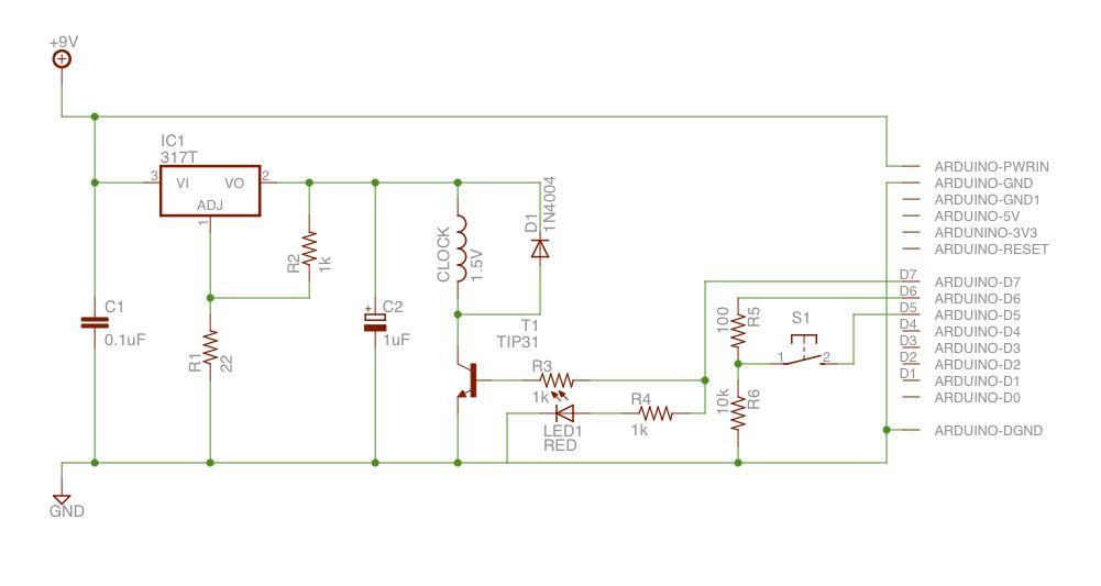 Schematic Arduino Atom Synchronised Clock