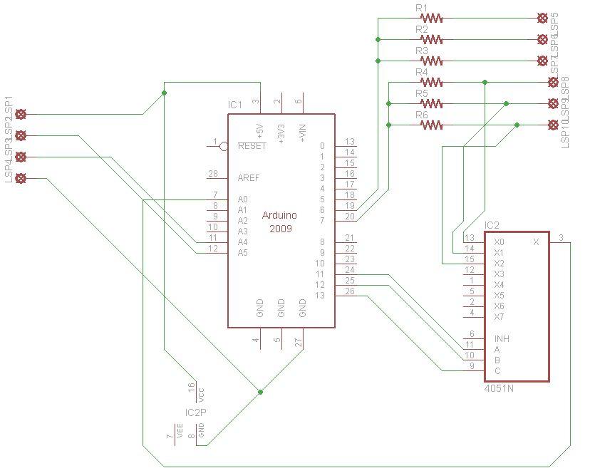Schematic Arduino Automated Gardening System