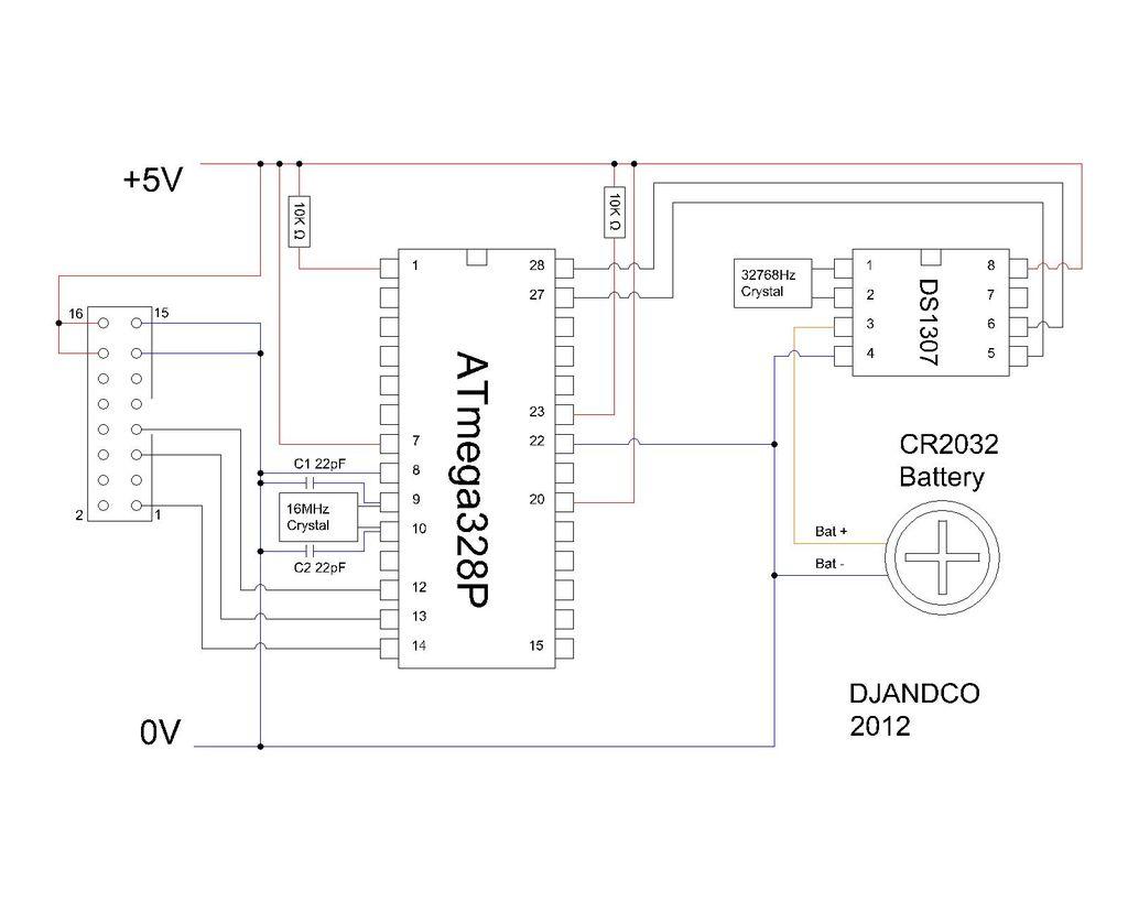 Schematic Arduino Book clock