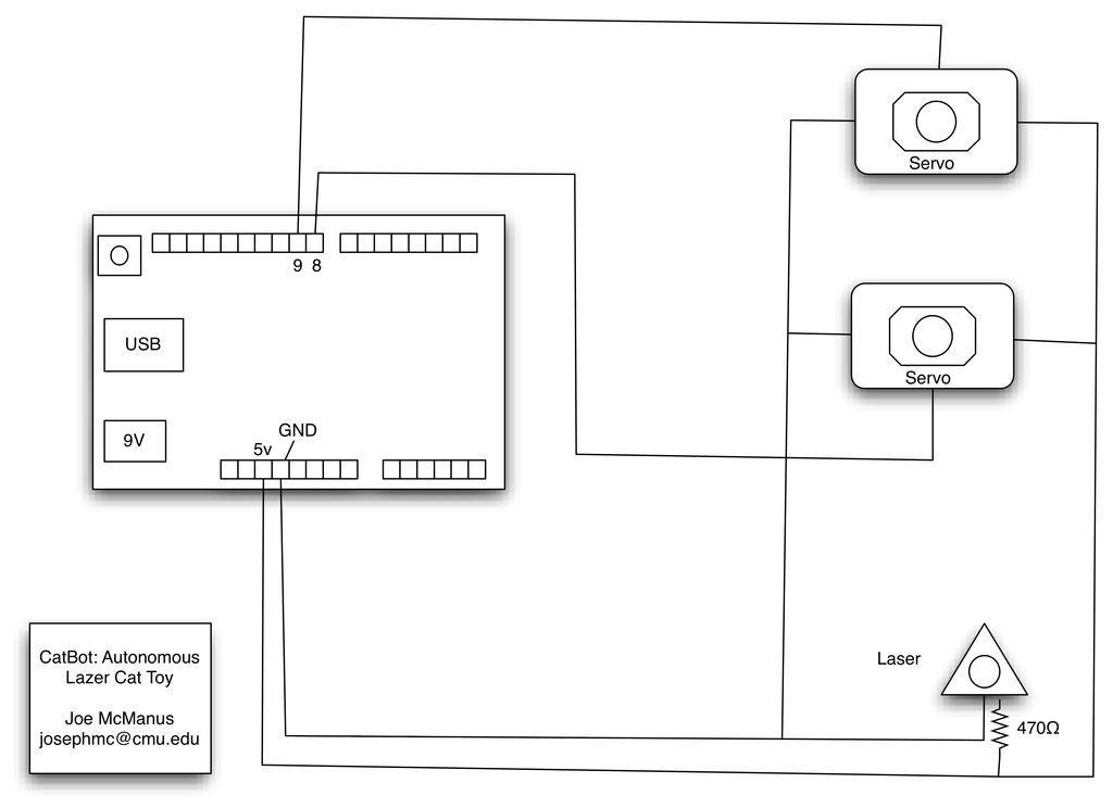 Schematic Arduino CatBot