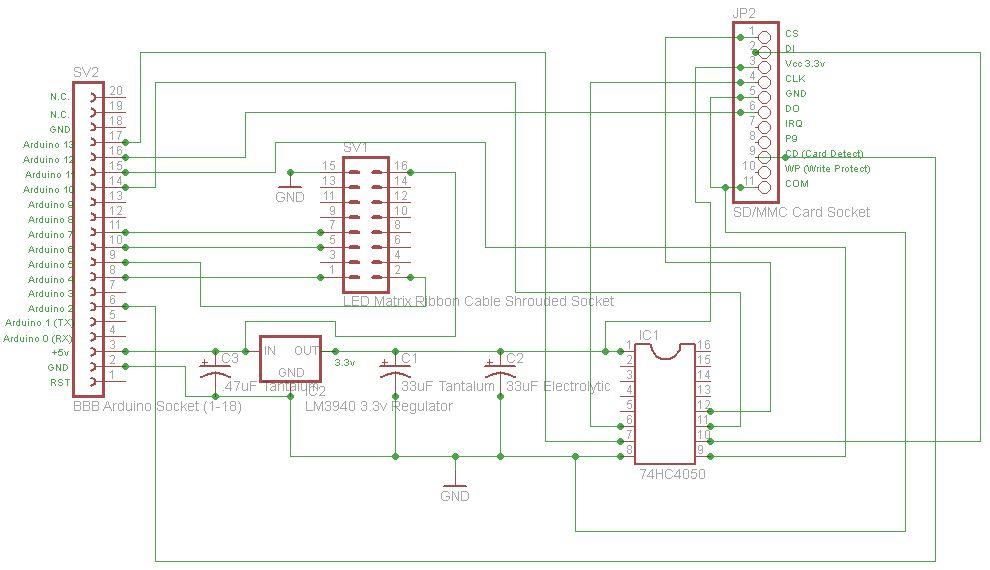 Schematic Arduino Digital Window Sticker