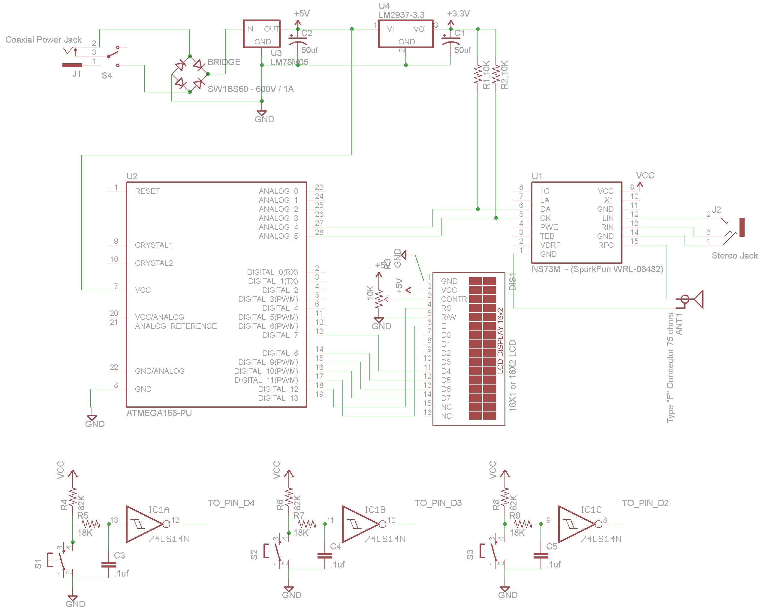 Schematic Arduino FM Stereo Broadcaster