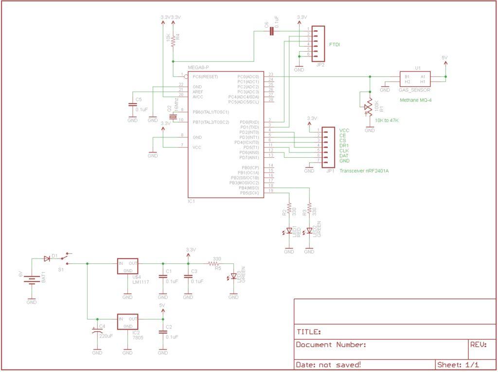 Schematic Arduino Fart-O-Meter