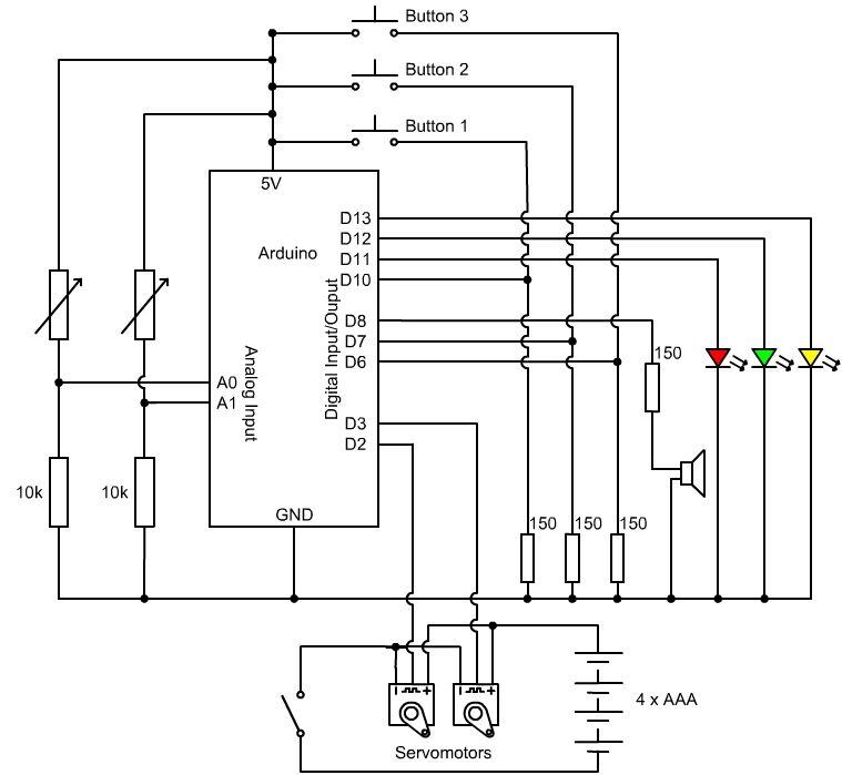 Schematic Arduino Ghost Climber