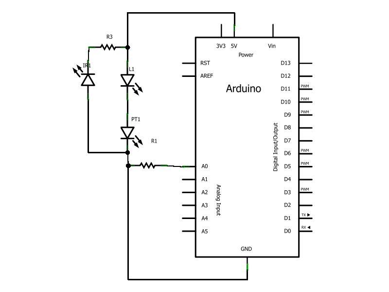 Schematic Arduino Infrared Sensor Module