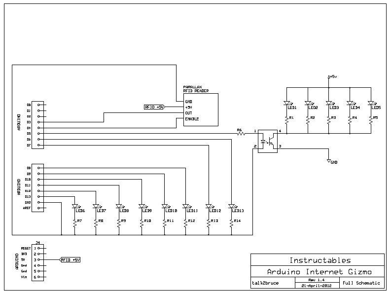 Schematic Arduino Internet Gizmo