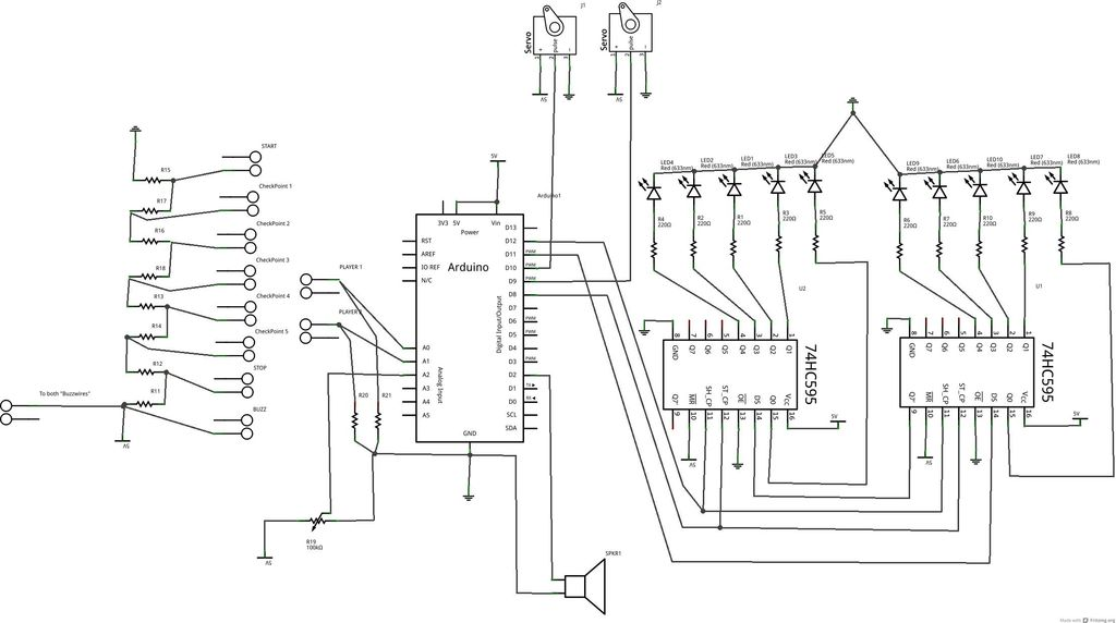 Schematic Arduino Jam project