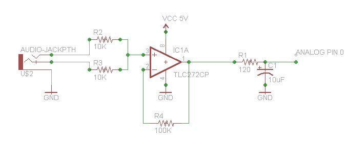 Schematic Arduino LED Matrix Coffee Table
