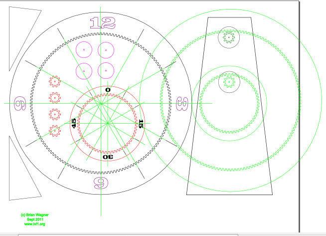 Schematic Arduino Laser cut gear clock