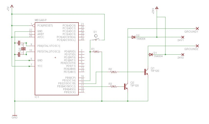 Schematic Arduino Magic Lamp Card Box