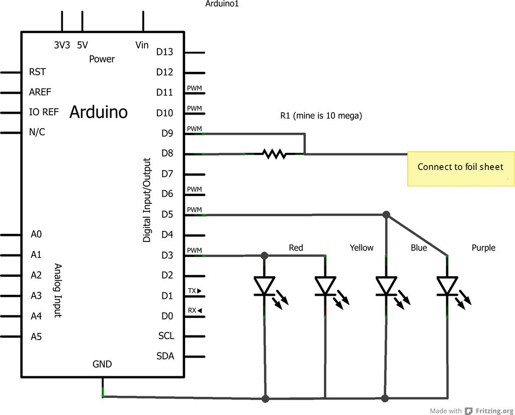 Schematic Arduino Magic Light