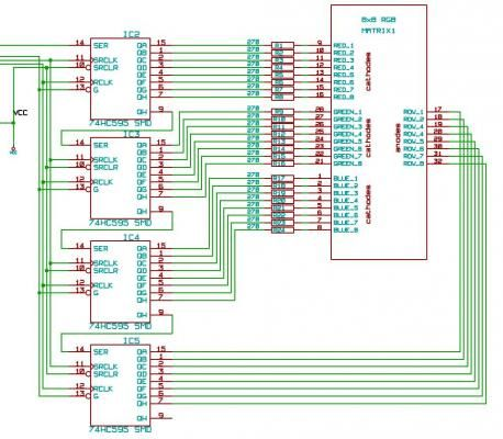 Schematic Arduino RGB LED Display