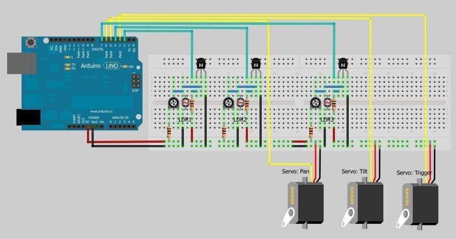 Schematic Arduino Sentry Gun