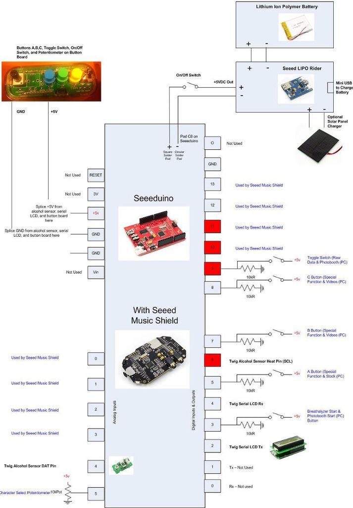 Schematic Arduino Talking Breathalyzer
