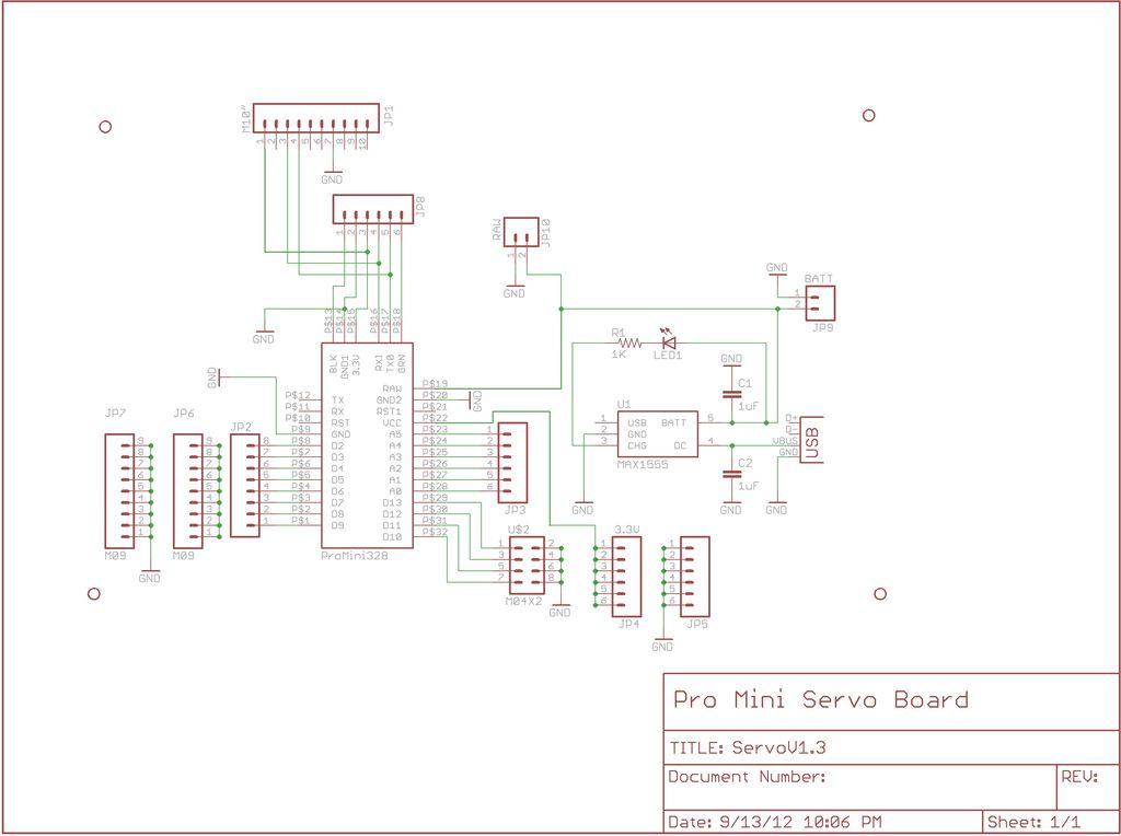 Schematic Arduino animatronics