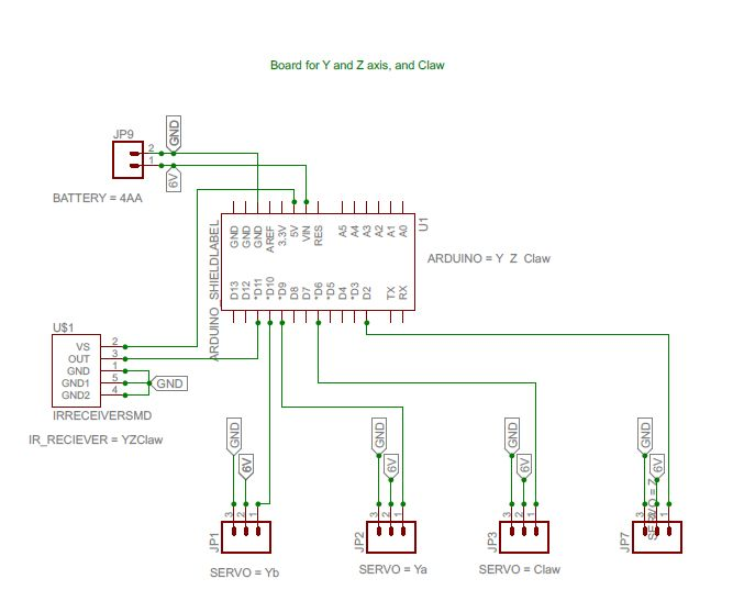 Schematic Arduino big crane game