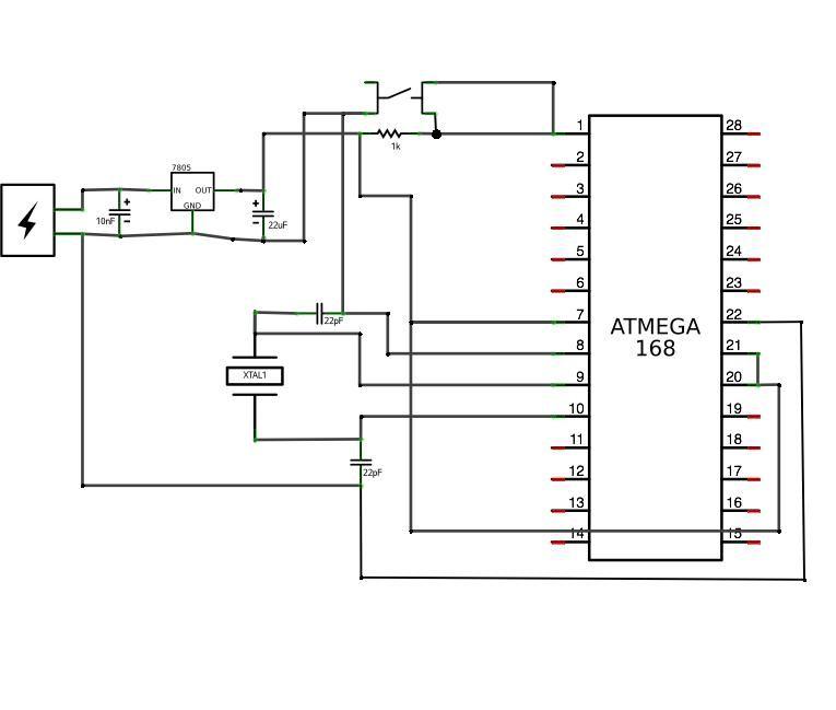 Schematic Arduino compatible circuit