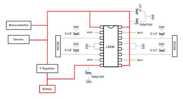 Schematic Arduino motor controller