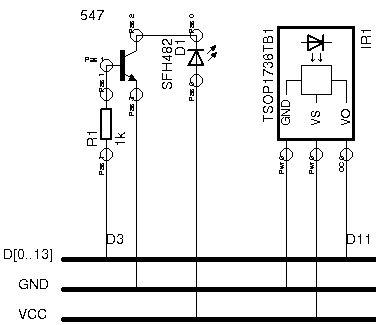 Schematic Arduino remote control