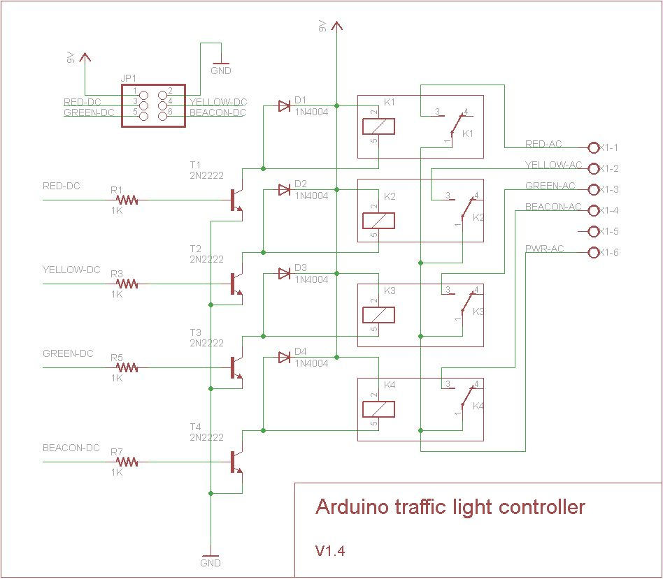 Schematic Arduino stoplight