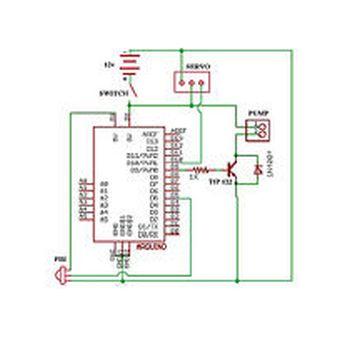 Schematic Arduino water cannon