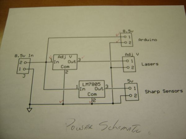Schematic Theremin with Zapper,laser,Arduino