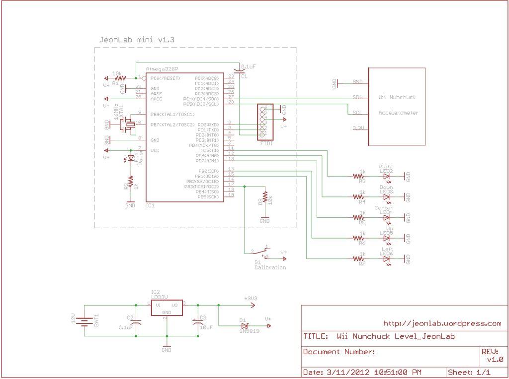 Schematic Wii Nunchuck Arduino