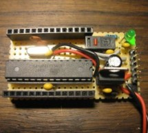 Small form factor DIY Arduino on stripboard