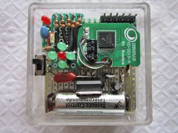 Wii Nunchuck Arduino Spirit Level -Use Arduino for Projects