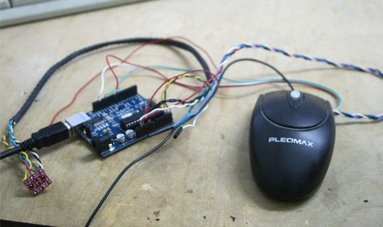 3D AIR mouse | Arduino + Processing