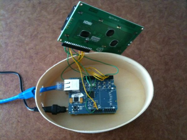 arduino Displaying Twitter feed