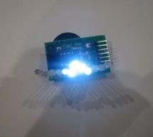 Tiny Wearable LED kit – 12 PWM LEDs from a reprogramable ATtiny85